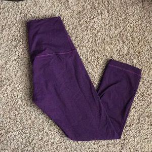 Lululemon plum wunder under leggings